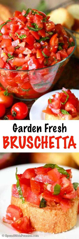 Garden Fresh Bruschetta with a title