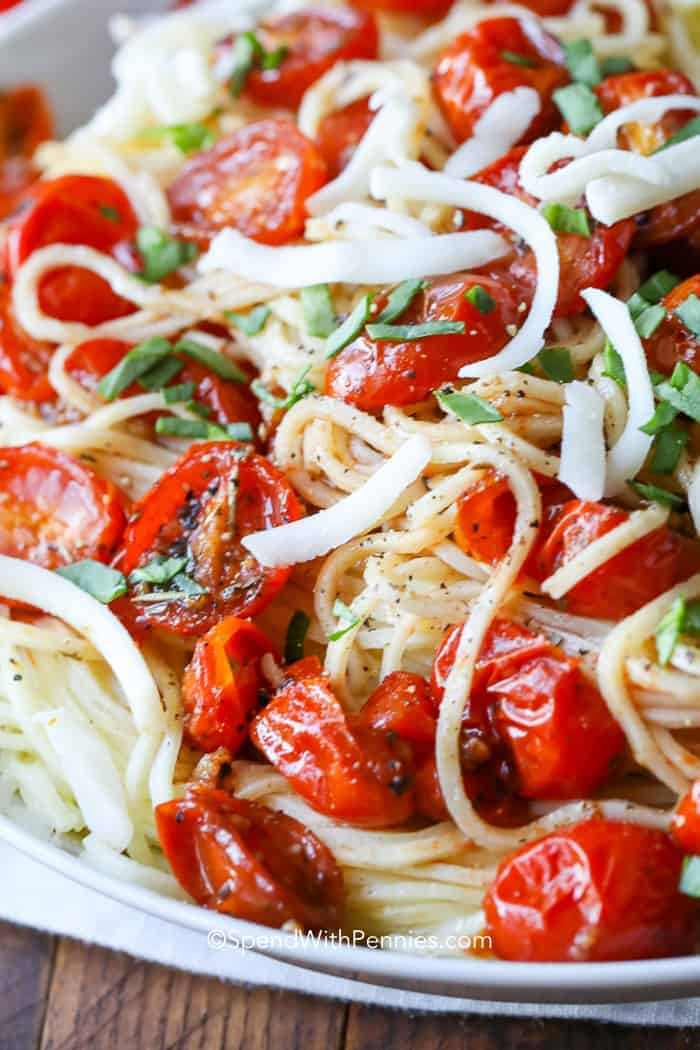 Plate of Fresh Tomato Pasta