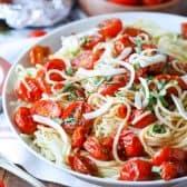 Fresh Tomato Pasta on a plate