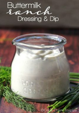 Homemade Buttermilk Ranch Dressing and Dip. This is easy to make and tastes so good you'll want to drink it!