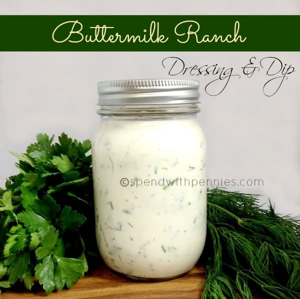 Buttermilk ranch dressing and dip! Once you make this homemade, you'll ...