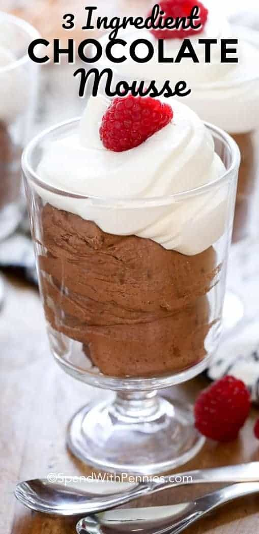 Chocolate Mousse with a title