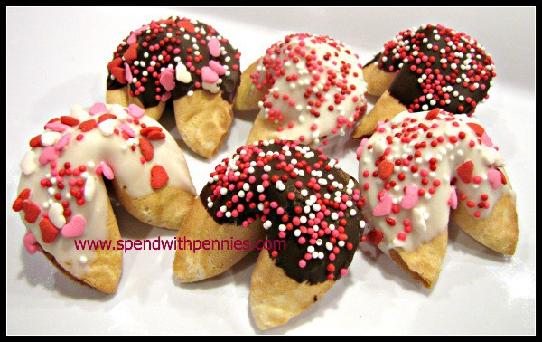 Valentines Day Treats Sprinkle Fortune Cookies