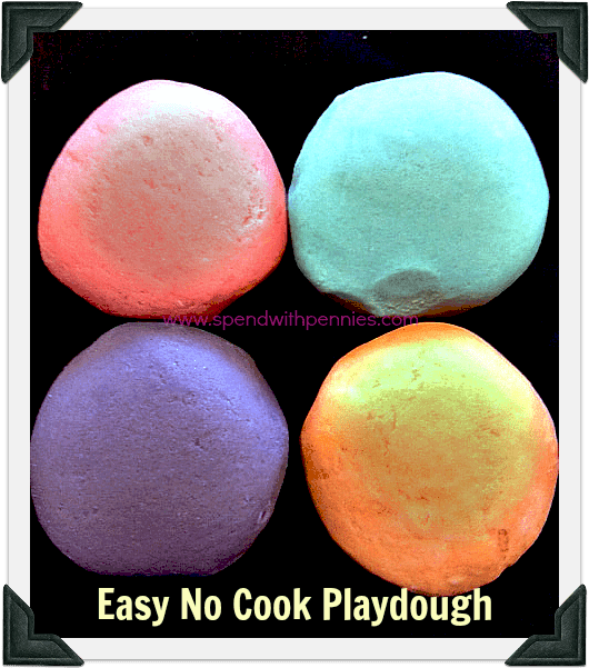 Easy No Cook Playdough Recipe Spend With Pennies