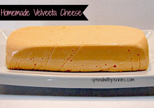 Copy Cat Recipe:  Homemade Velveeta Cheese