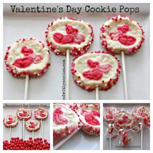 valentines day cookie pops recipe