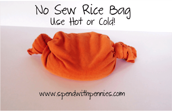 New Sew Rice Bag!  This is great for HOT or COLD therapy!