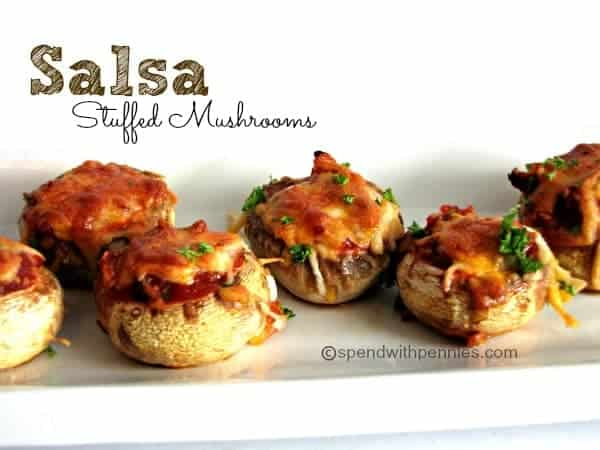 salsa stuffed mushrooms