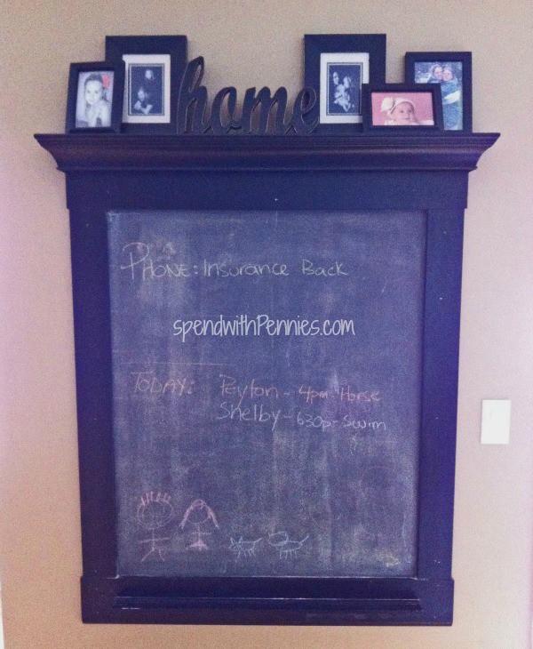 diy chalkboard frame - Diy Chalkboard Frame