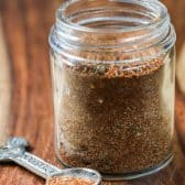 Homemade Taco Seasoning in a clear jar