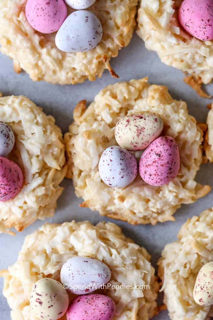 Overhead shot of Bird's Nest Cookies