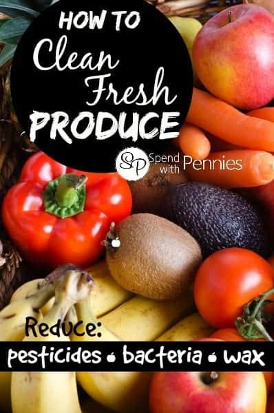 clean fresh produce