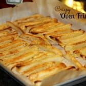 Sheet of oven baked fries