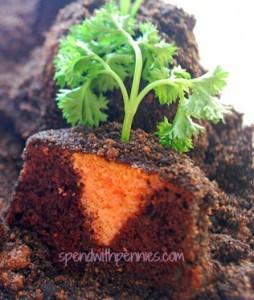 cut garden patch carrot cupcakes