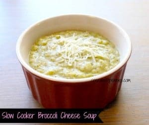 slow cooker broccoli soup