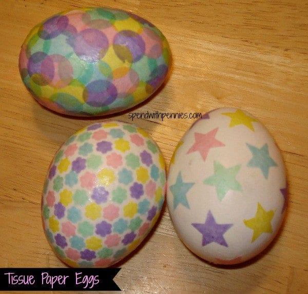 tissue paper eggs 1