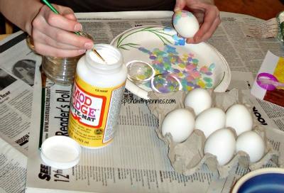 tissue paper eggs 3