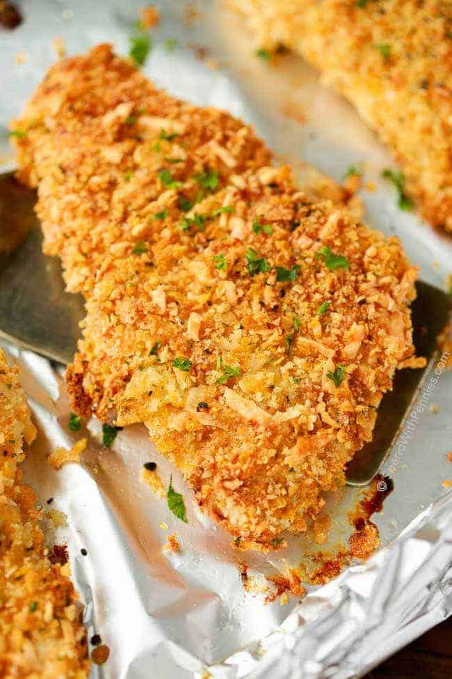 Crispy Parmesan Crusted Chicken Baked Spend With Pennies
