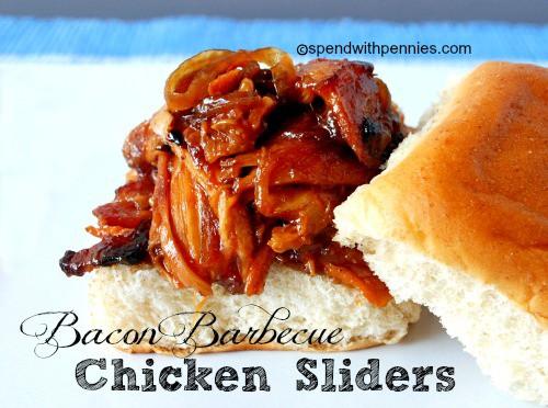 bacon barbecue chicken sliders