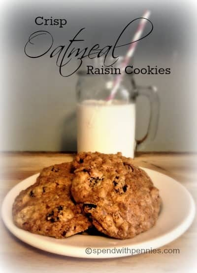 crisp oatmeal raisin cookies