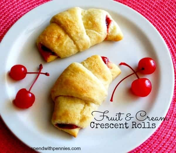 fruit and cream crescent rolls