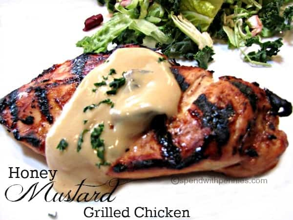 Honey Mustard Grilled Chicken - Spend With Pennies