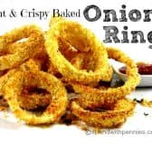 crispy baked onion rings with panko