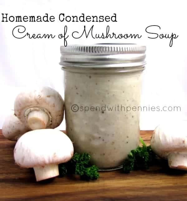 Condensed Cream of Mushroom soup recipe