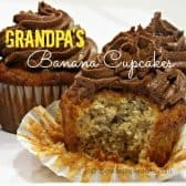 frosted banana muffins