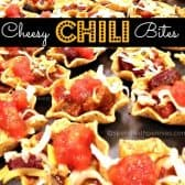 cheesy chili bites in tortilla chips