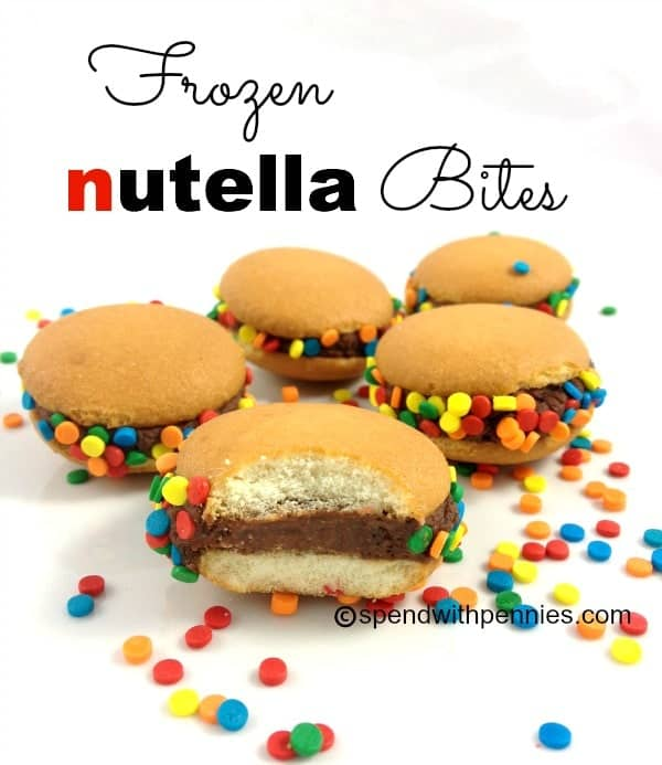 frozen nutella bites