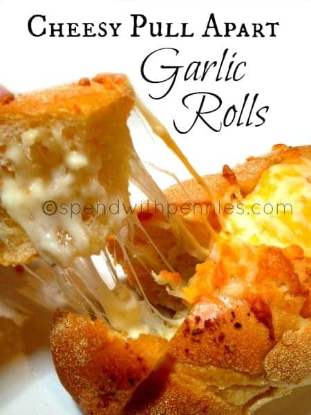 individual cheesy pull apart garlic rolls