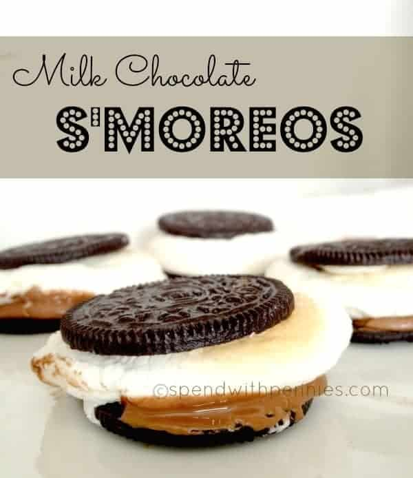 milk chocolate s'moreos