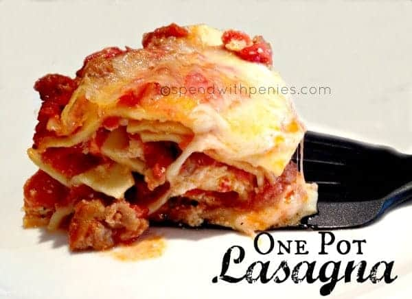 one pot lasagna 2