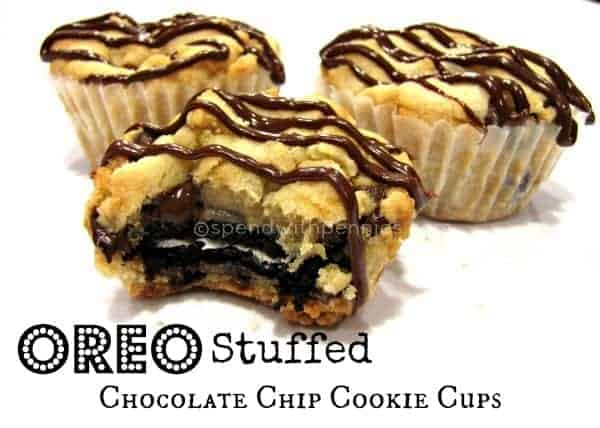Oreo Stuffed Chocolate Chip CookiesThese are amazingly yummy cookies ...