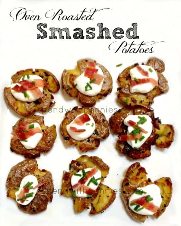 oven roasted smashed potatoes
