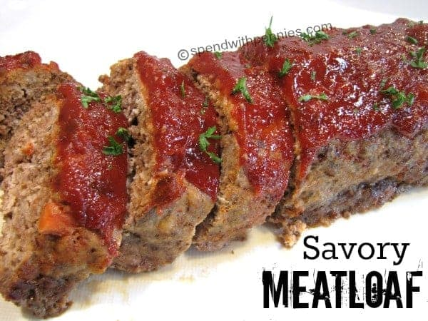 Delicious Savory Meatloaf- The best meatloaf recipe! A healthier ...