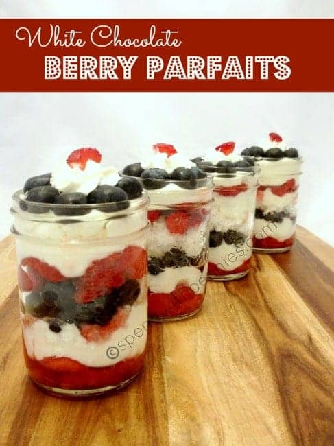 white chocolate berry parfaits