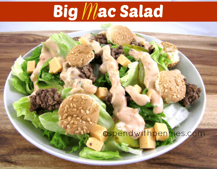 Big Mac Salad! Yum