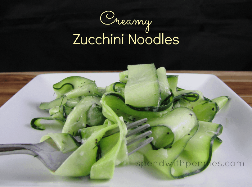 Creamy Zucchini Noodles