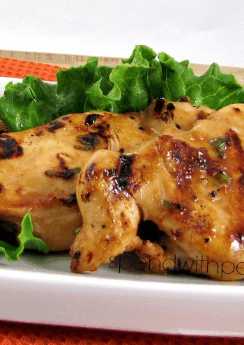 pineapple teriyaki chicken on plate