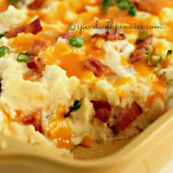 Loaded Twice Baked Potato Casserole - Spend With Pennies