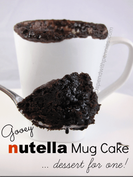 Nutella Mug Cake Warm And Gooey It S Like A Hug In