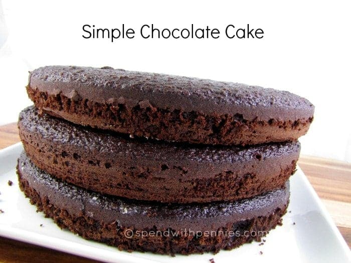 Simple Chocolate Cake! - Spend With Pennies