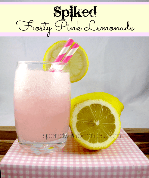 Spiked Frosty Pink Lemonade
