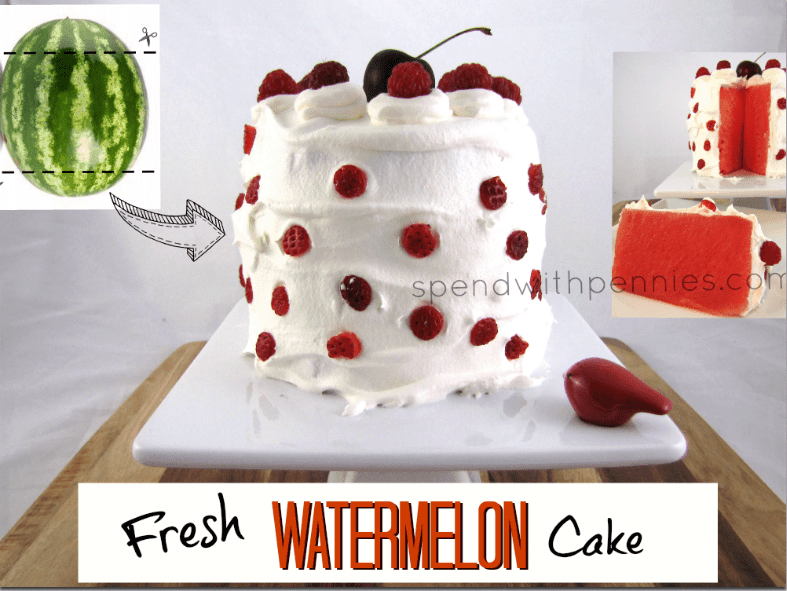 Healthy No bake watermelon cake