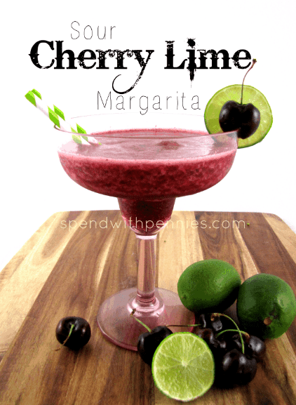 Sour cherry lime margarita