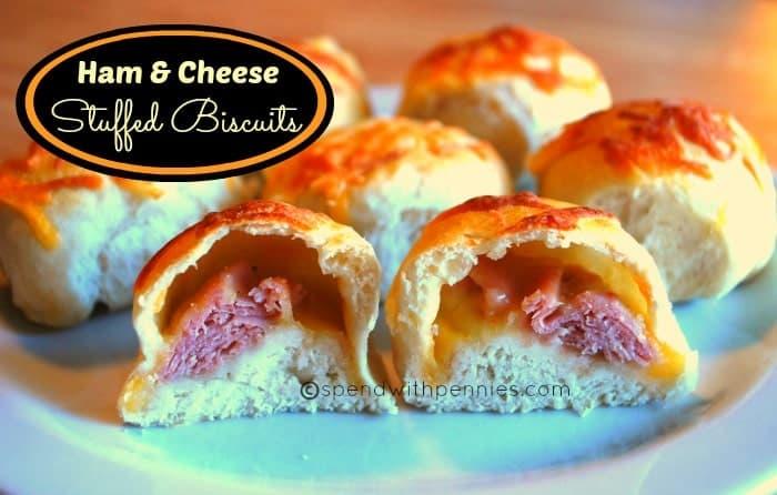 ham & cheese stuffed biscuits