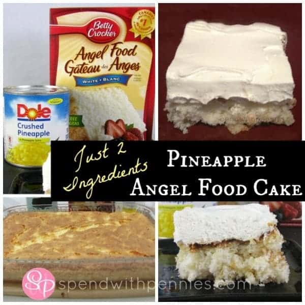 pineapple angel food cake with just 2 ingredients