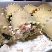 Broccoli Chicken Roll-Ups in the pan before baking